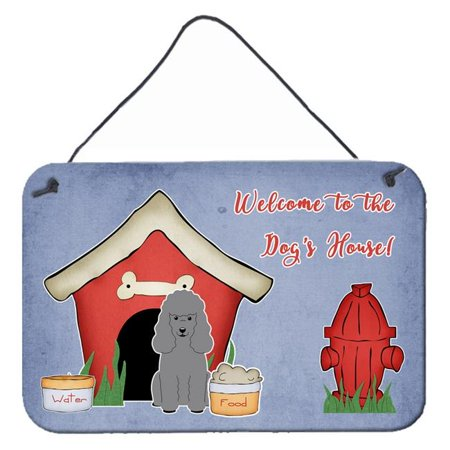 Carolines Treasures BB2823DS812 Dog House Collection Poodle Tan Wall or Door Hanging Prints - image 1 of 1