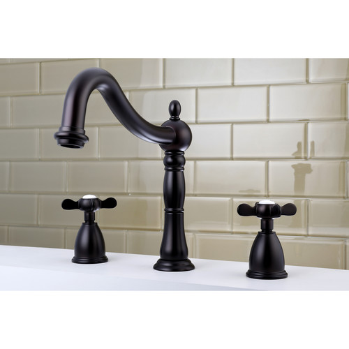 Kingston Brass Essex Double Handle Deck Mounted Roman Tub Faucet