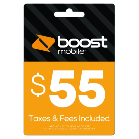$55 Re-Boost Card (Email Delivery) Boost Mobile Unlimited