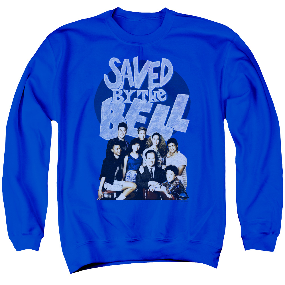 Saved By The Bell Retro Cast Mens Crewneck Sweatshirt