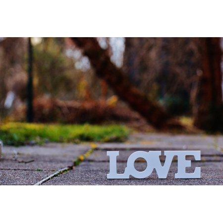 Canvas Print Romance Font Valentine