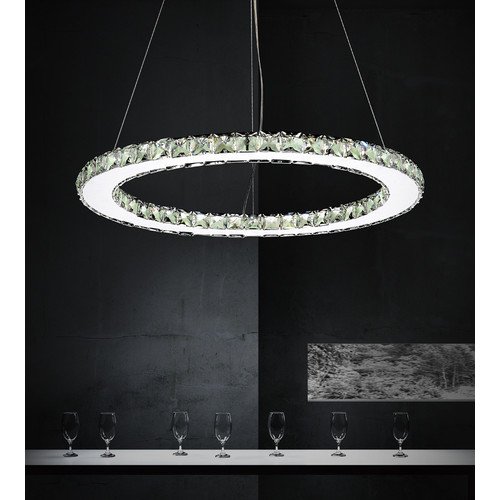 CWI Lighting Ring 24-Light Crystal Chandelier