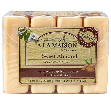 A la maison soap bars sweet almond value pack 3 5 oz 4 for A la maison soap review