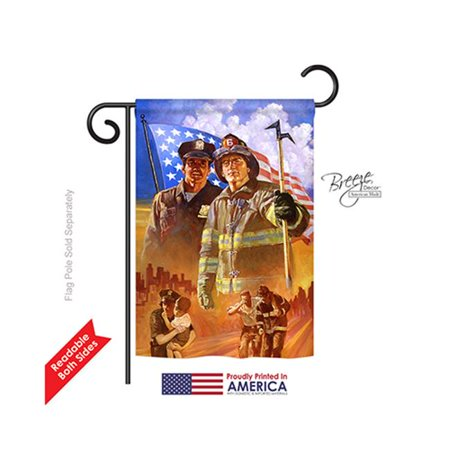 Breeze Decor 61065 Patriotic Heroes 2-Sided Impression Garden Flag - 13 x 18.5 in. - image 1 de 1