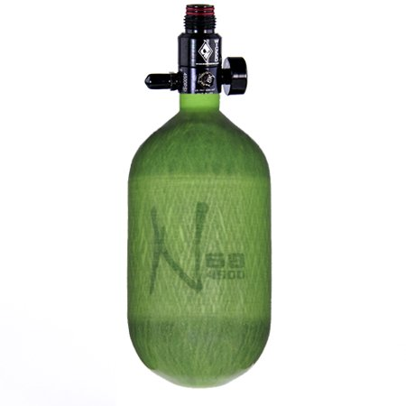 Ninja Carbon Fiber HPA Tank - 68/4500 - Adjustable Reg - Translucent