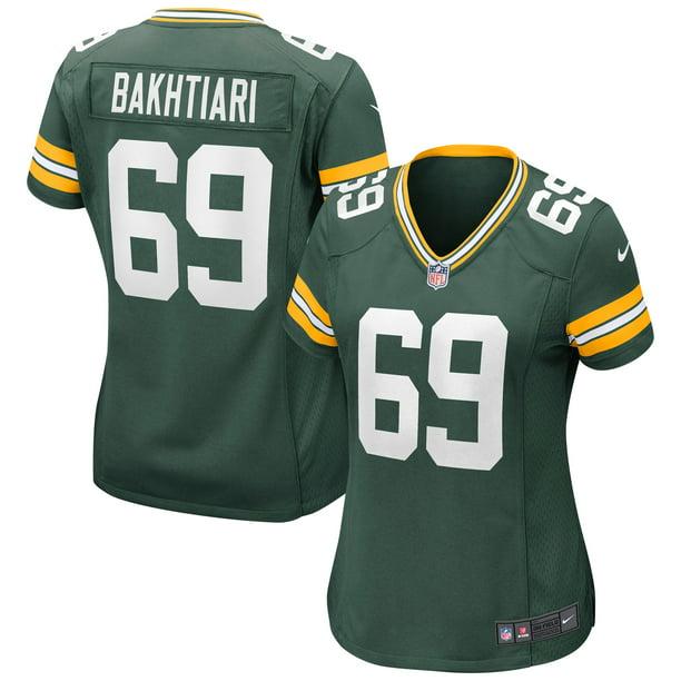 David Bakhtiari Green Bay Packers Nike Women's Game Jersey - Green