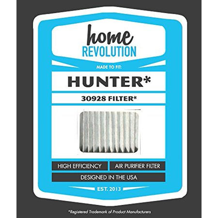Hunter 30928 Style Home Revolution Brand Air Purifier Filter; Made to Fit Hunter