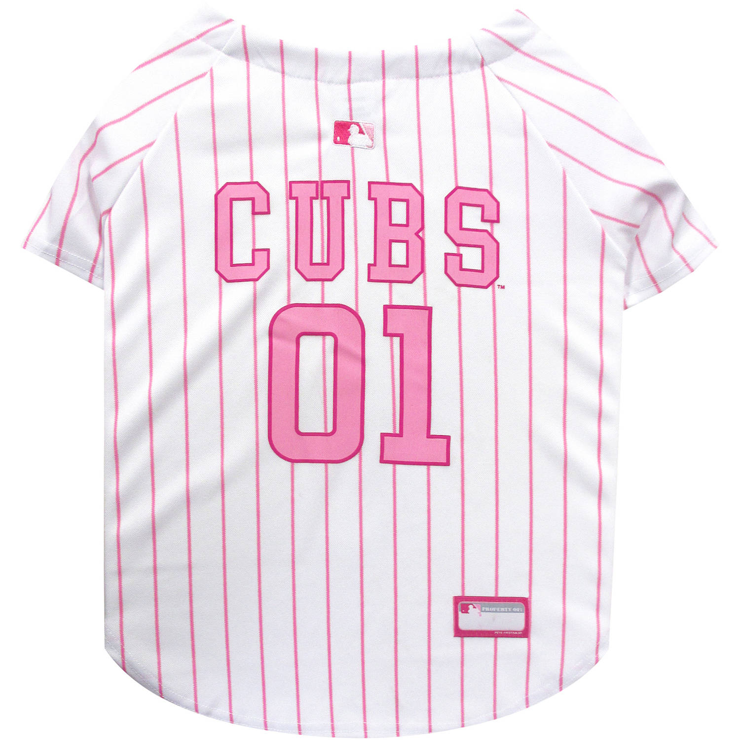 Pets First MLB Chicago Cubs Pet Pink Jersey, X - Small