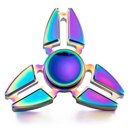 EDC Fidget Spinner Aluminum Hand Spinner Fidget Toy Rainbow Color--Best Stress Reducer Relieves Anxiety and