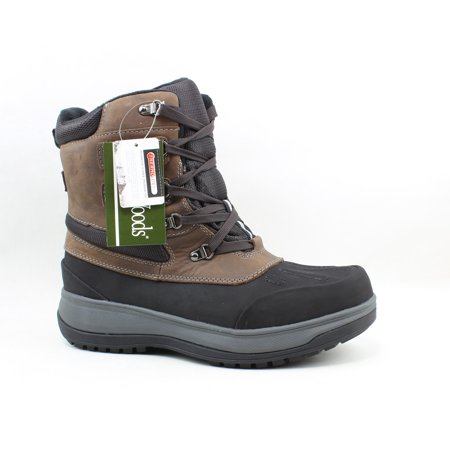 Maine Woods Mens Frost Brown Snow Boots Size 10