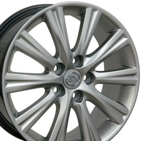 17x7 Wheel Fits Lexus, Toyota - ES 350 Style Hyper Silver Rim, Hollander