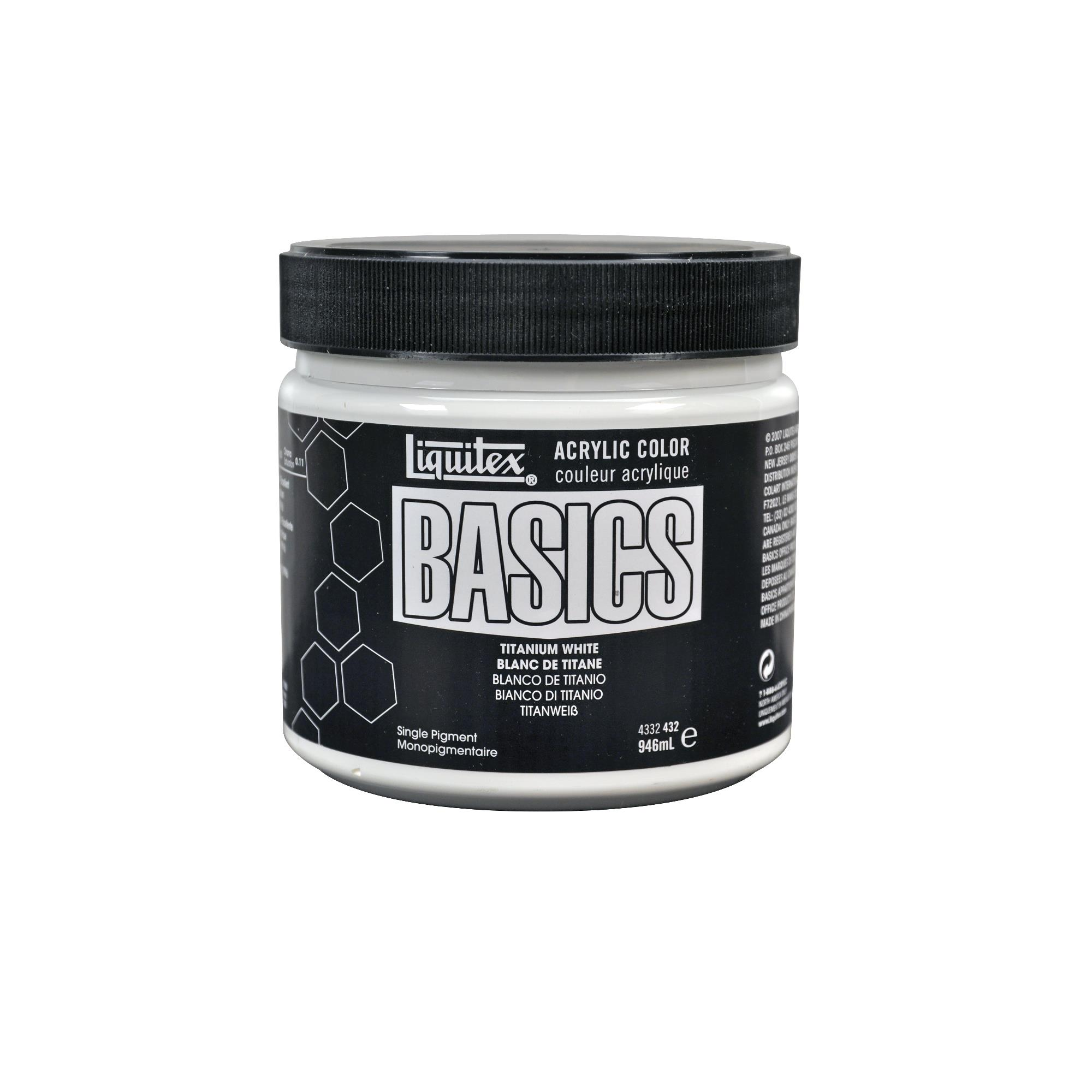 Liquitex BASICS Acrylic Paint 32-oz Jar, Titanium White