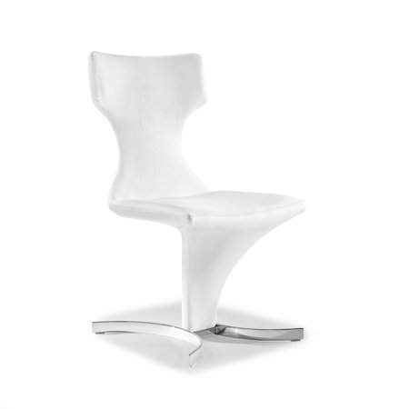 Wondrous Whiteline Modern Living Austin Faux Leather Dining Chair Set Of 2 Frankydiablos Diy Chair Ideas Frankydiabloscom