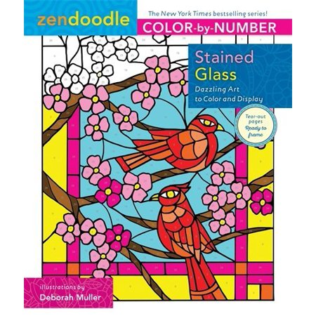 Stained Glass (Zendoodle Color-by-Number) - image 1 de 1