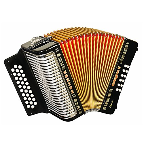 Hohner Button Accordion Corona II Classic EAD, With Gig Bag, Straps And Adjustable Bass... by Hohner