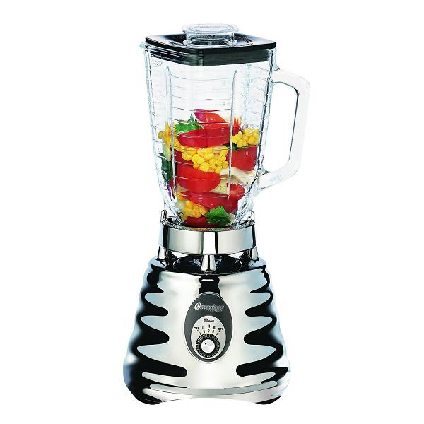 Oster Table Top Blender - 600 W - 1.25 Quart - 3 Speed Setting (s) - 5 Cup - Glass, Metal (4655 49)
