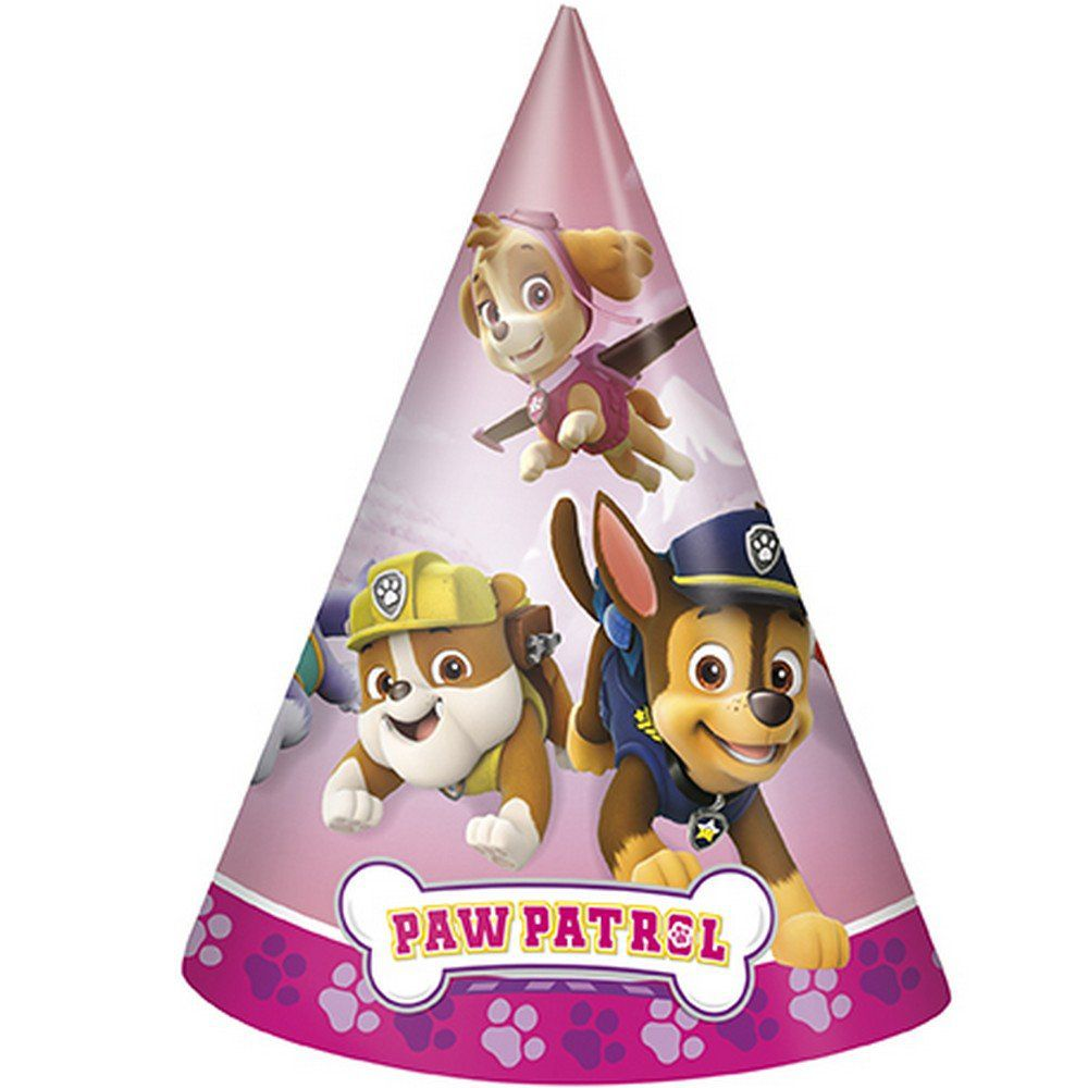 Paw Patrol Party Supplies 8 Pack Cone Party Hats