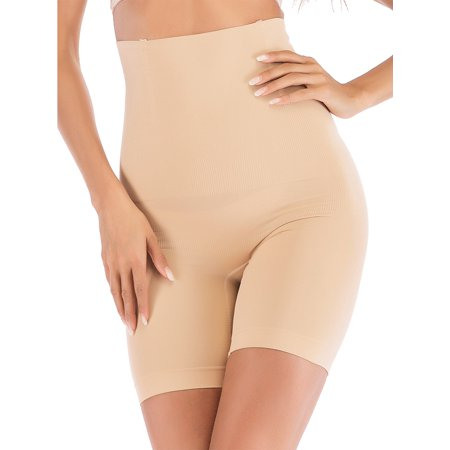 SAYFUT Seamless Tummy Control Shapewear Shorts for Women High Waist Shaping Thigh Slimmer Panties Underwear ()