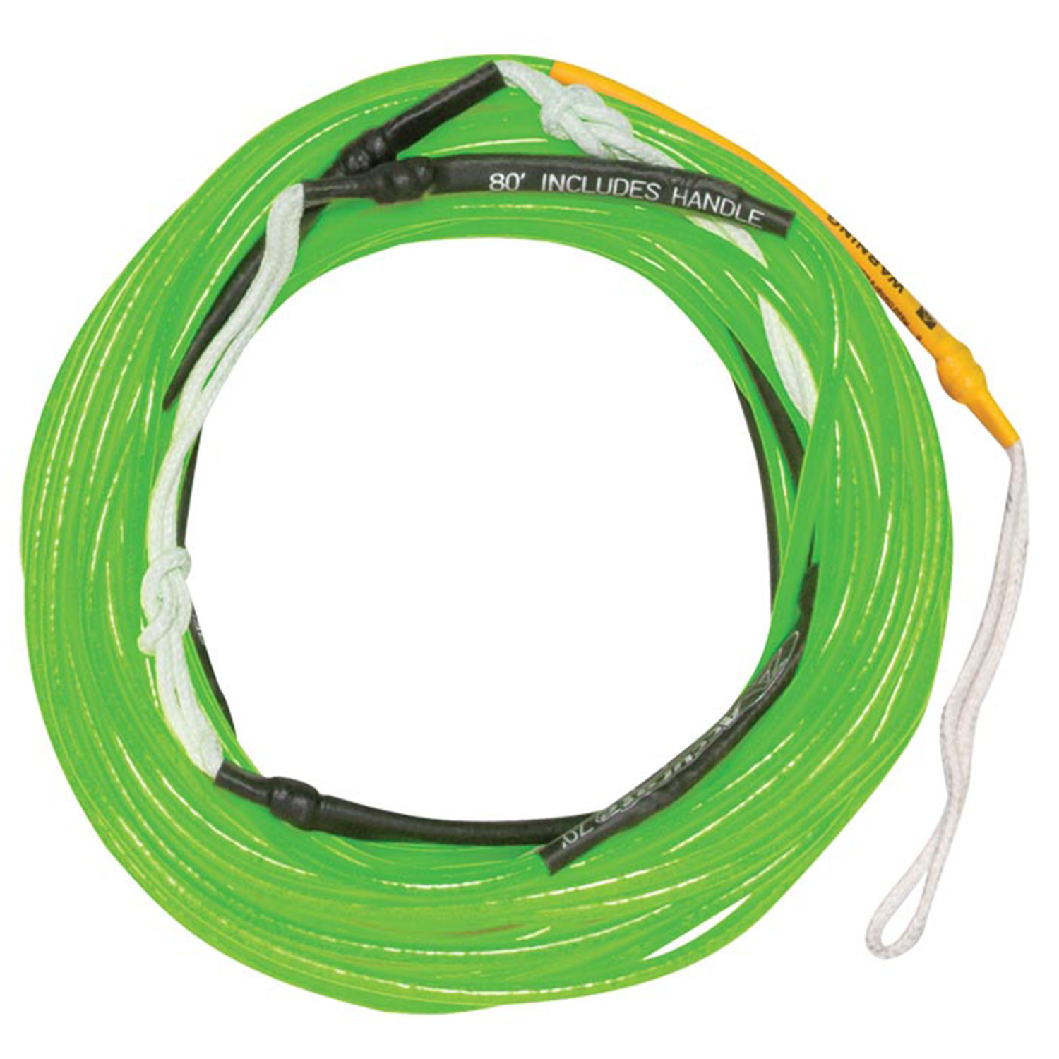 Hyperlite 2016 80 ft Silicone A-Line (Neon Green) Wakeboard Rope by