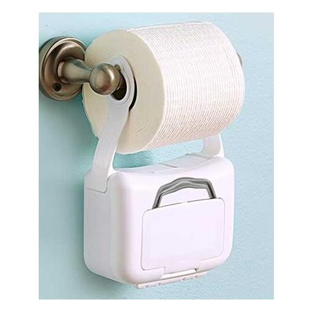 Bathroom Toilet Hanging Container Flushable Wipes Holder Dispenser 42 Wipes Incl