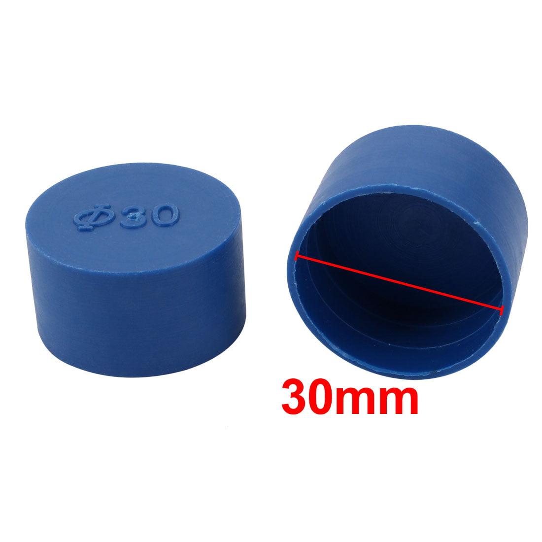 60pcs 30mm Inner Dia PE Plastic End Cap Bolt Thread Protector Tube Cover Blue - image 1 de 2