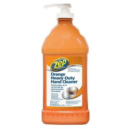 48 OZ. Heavy-Duty Orange Hand Cleaner and Degreaser ZU099148, Removes dirt, grease and odors from hands quickly and effectively By