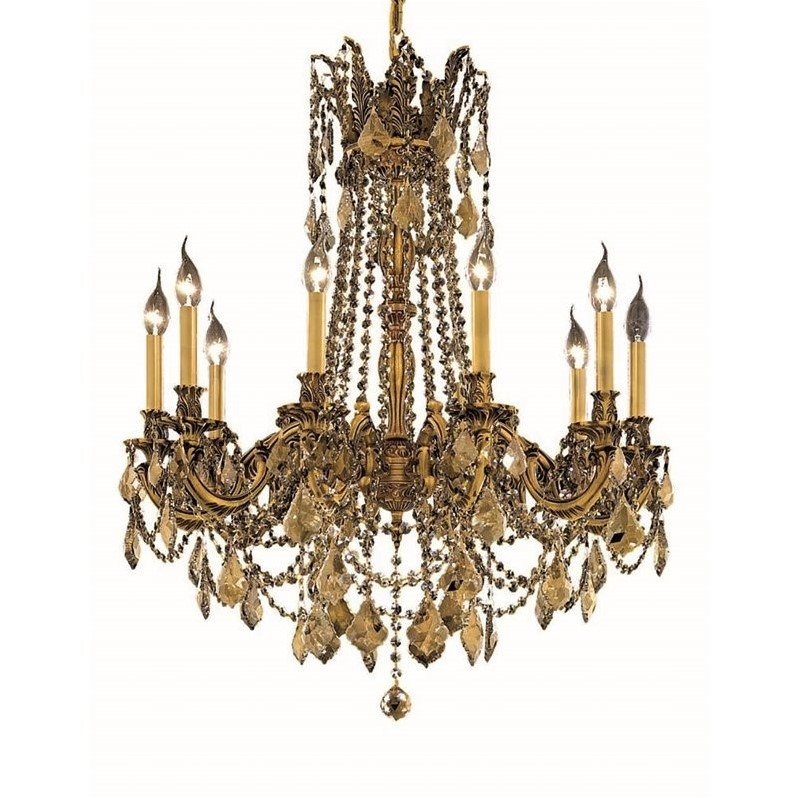 "Elegant Lighting Rosalia 28"" 10 Light Royal Crystal Chandelier"