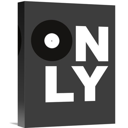Naxart 'Only Vinyl Poster 3' Textual Art on Wrapped Canvas