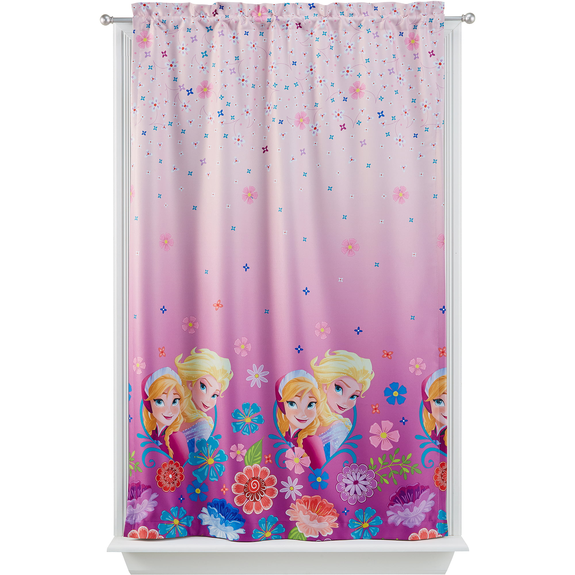 Pink Curtains For Bedroom Disney Frozen Room Darkening Girls Bedroom Curtain Panel