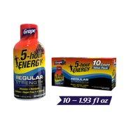 (10 Count) 5-hour ENERGY® Shot, Regular Strength, Grape, 1.93 oz