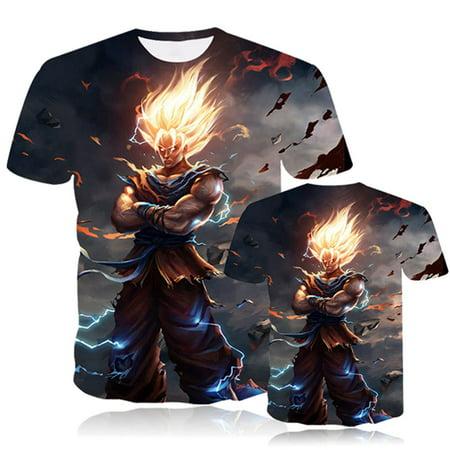 KABOER Goku 3D Graphic Print Shirts Dragon Ball Z T Shirt Summer Top Unisex 1 Pcs - Dragon Ball Z Apparel