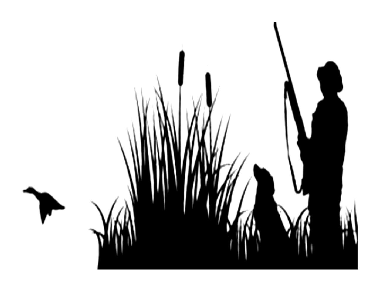 Duck Hunting Silhouette Edible Icing IMage for 1 4 SHeet cake by