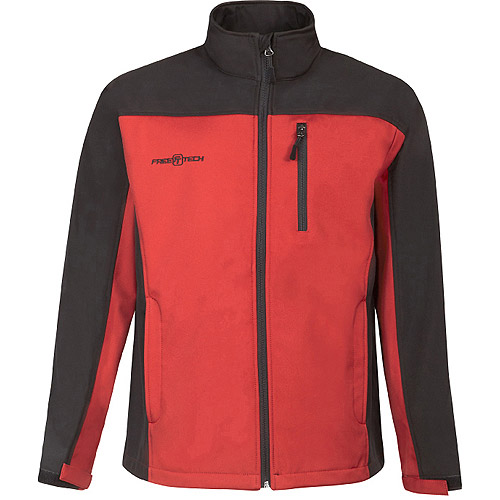 FreeTech Men's Soft Shell Solid Jacket