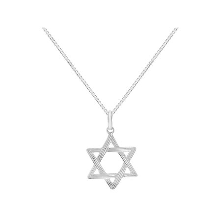 925 sterling silver star of david pendant jewish necklace girls kids 925 sterling silver star of david pendant jewish necklace girls kids 16 aloadofball Image collections