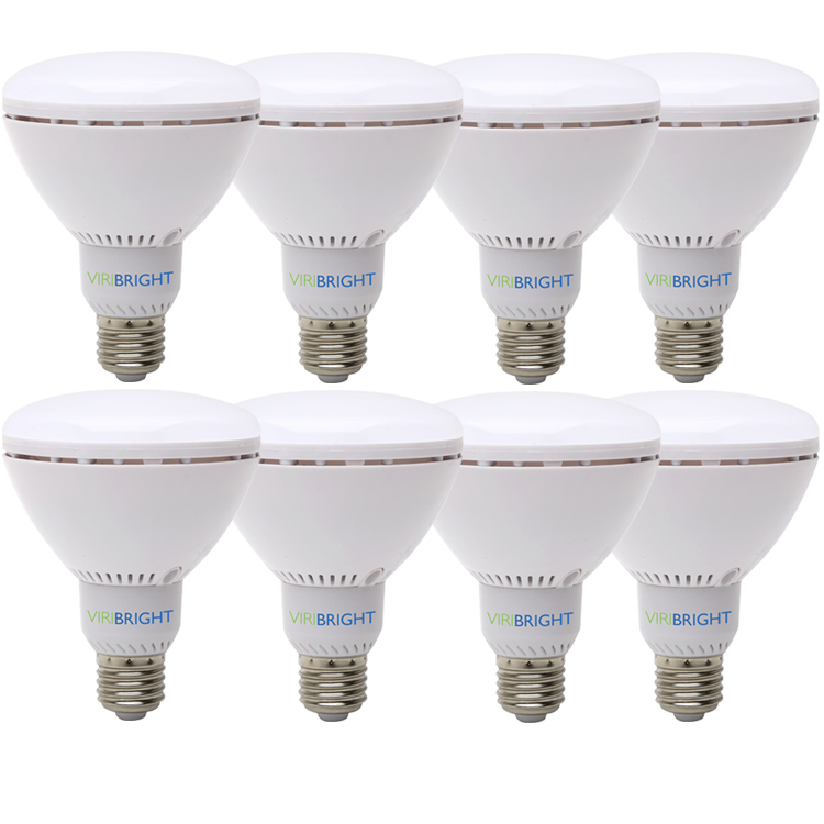 Viribright BR30 (8 Pack) LED Light Bulbs, 60+ Watt Replacement, 6000K+ Daylight, E26 Base, Dimmable