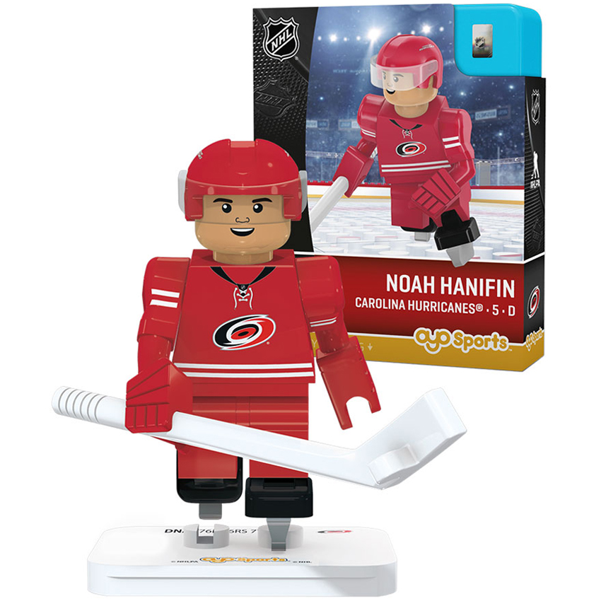 Noah Hanifin Carolina Hurricanes OYO Sports Player Away Jersey Minifigure - No Size