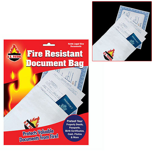 "Trademark Fire Resistant Document Bag, 9"" x 14"""