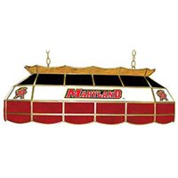 """Trademark Global Maryland University Stained Glass 40"""" Stained Glass Billiard Table Light Fixture"""