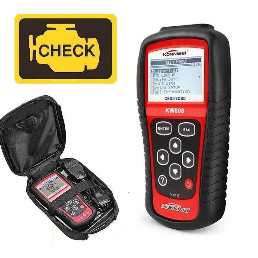 KW808 OBD2 Car Code Reader Scan Tool EOBD Check Engine Diagnostic Tool Automotive Fault Code Reader