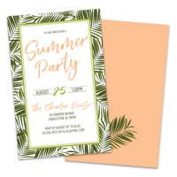 Personalized Summer Party Invitations