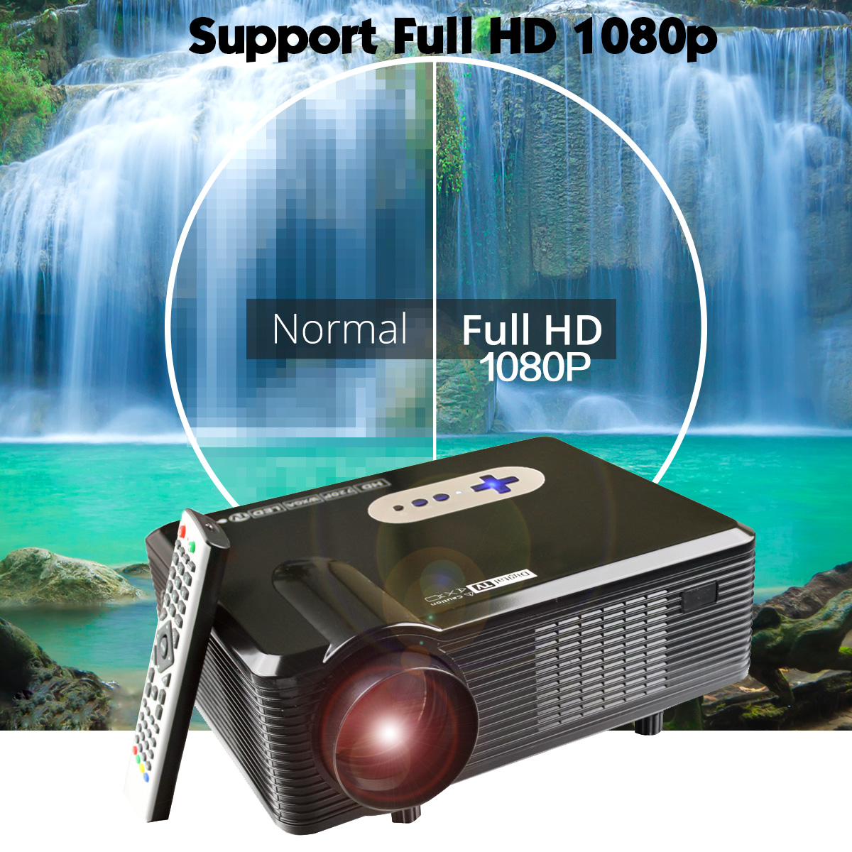 Cl720 3000 Lumens Hd Home Theater Multimedia Lcd Projector: Product Features: