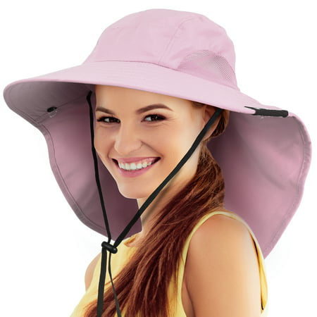 Safari Sun Hats for Women Fishing Hiking Cap with Neck Flap Wide Brim Hat](Jhats Safari)