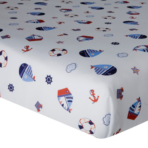 Lambs & Ivy Bedtime Originals Sail Away Crib Sheet