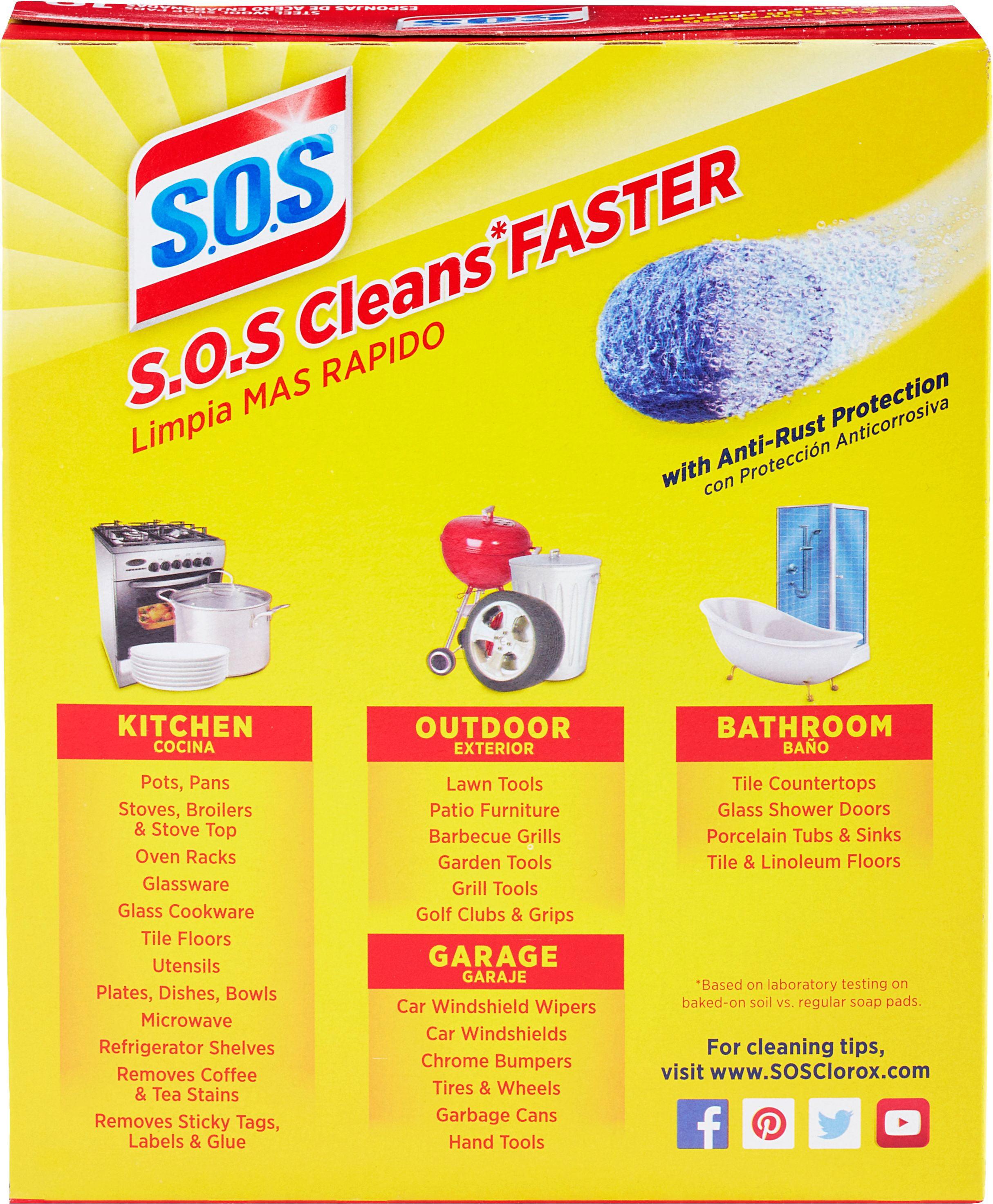 Sos Steel Wool Soap Pads 10 Count Walmartcom
