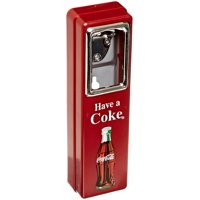 Coca Cola 10-1 2-Inch Wall Mountable Chrome Plated Metal Bottle Opener with Cap Catcher by Bottle Openers