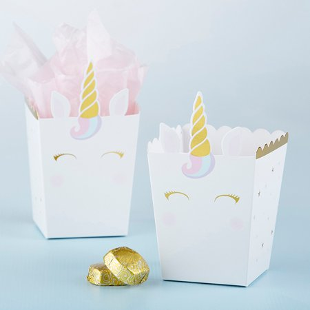 Kate Aspen Unicorn Popcorn Favor Box, Perfect Party Favor Container & Decoration for Bridal Showers, Baby Showers & Birthdays (12) Bridal Shower Favor Boxes