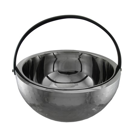 Polished Stainless Steel Round Beverage Bucket Chiller Bowl with - Stainless Steel Beverage Bucket