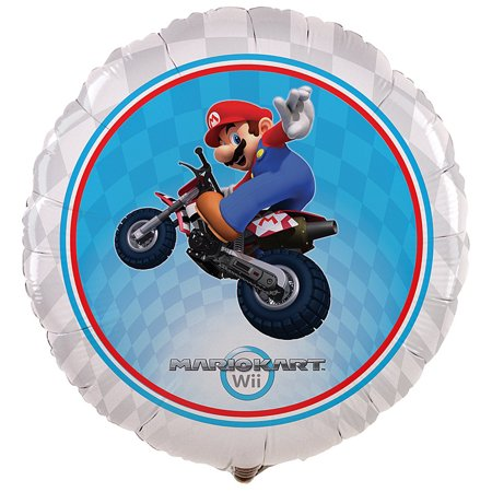 Super Mario Brothers Mario Kart Wii Party Supplies Foil Balloon - Party Store Madison Wi