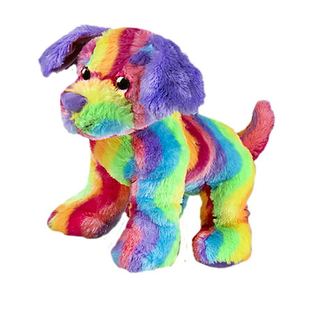 Record Your Own Plush 16 inch Rainbow Stripe Dog - Ready To Love In A Few Easy Steps - Rainbow Dog