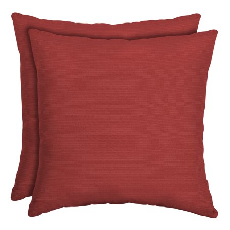 Better Homes & Gardens Santa Fe Red 16 x 16 in. Outdoor Toss Pillow with EnviroGuard, Set of 2 Accessories Square Toss Pillow